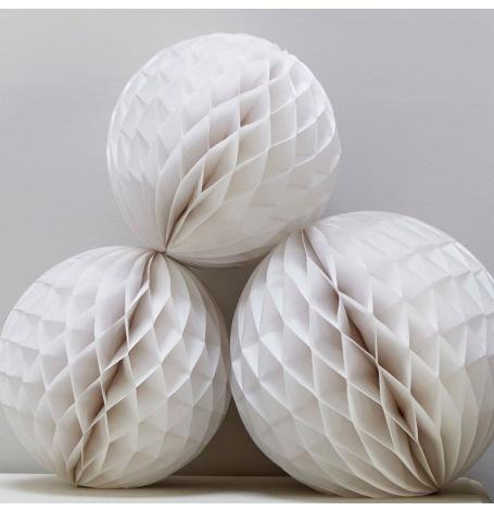 Boules Alvéolée Blanc (x3)| Hollyparty