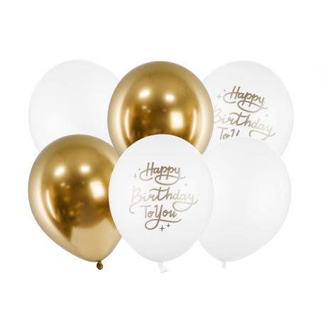 Bouquet de Ballons Happy Birthday (x6)| Hollyparty