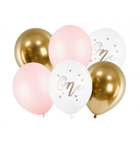 Bouquet de Ballons Rose & Or ONE (x6)| Hollyparty