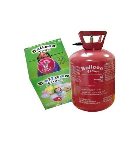 Bouteille d'hélium Jetable pour 30 ballons 23 cm| Hollyparty