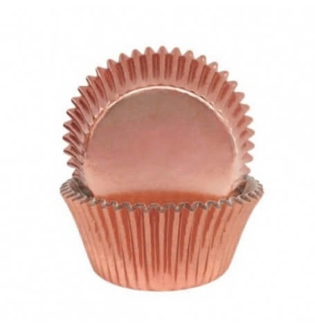 Caissettes à Cupcake Rose Gold métallisé (x45)| Hollyparty
