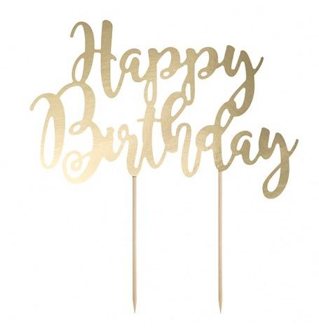 Cake Topper Happy Birthday| Hollyparty