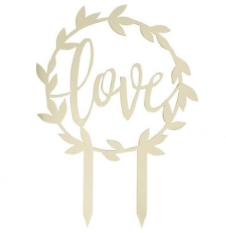 Cake Topper Love Doré| Hollyparty