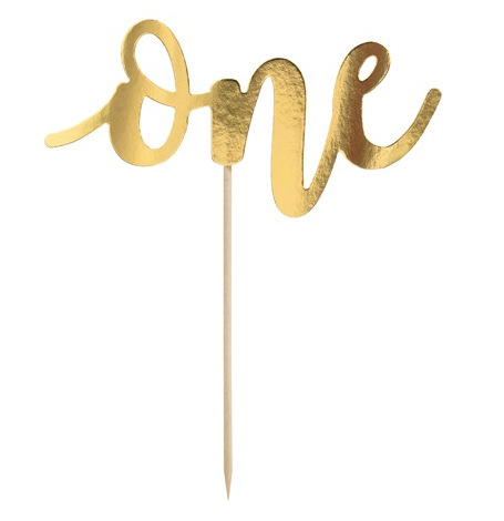 Cake Topper ONE Or | Hollyparty