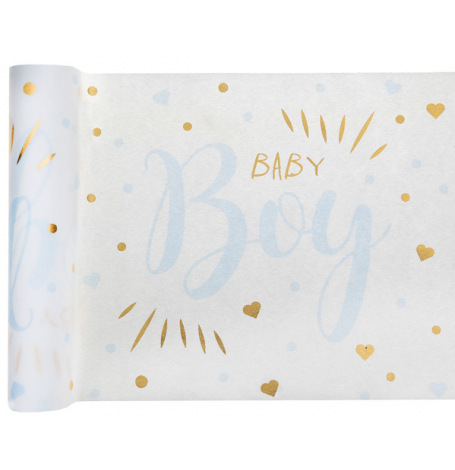 Chemin de table Baby Boy 3mx28cm| Hollyparty