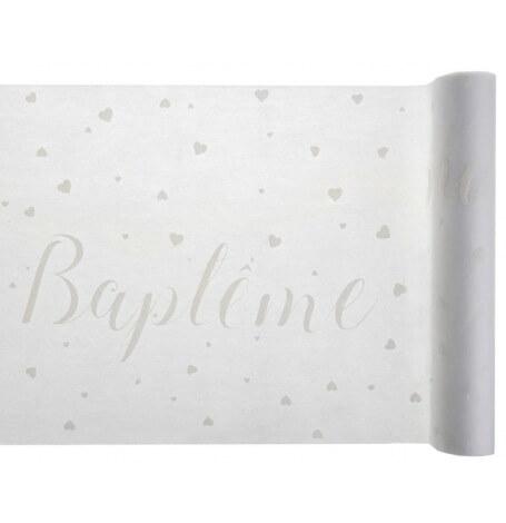 Chemin de table Baptême Blanc | Hollyparty