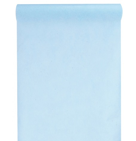 Chemin de table intissé Uni Bleu Pastel| Hollyparty