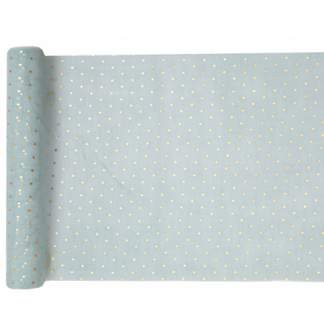 Chemin de table Polyester Pois Blanc| Hollyparty