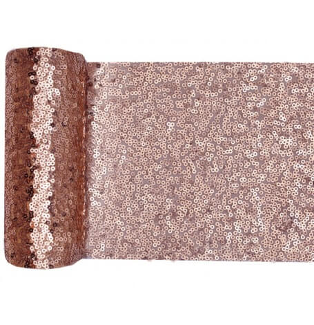 Chemin de table Sequin Rose Gold| Hollyparty