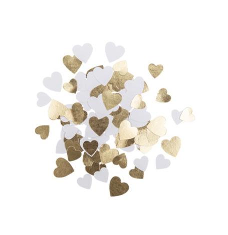 Confettis de table Coeur Blanc & Or (x100)| Hollyparty