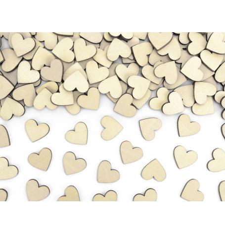 Confettis de table Coeur en Bois 2 cm (x50)| Hollyparty
