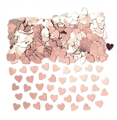 Confettis de table Coeur Rose Gold | Hollyparty