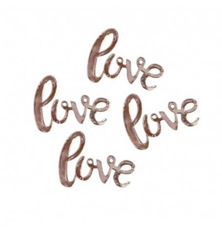 Confettis de table Love Rose Gold Métal| Hollyparty