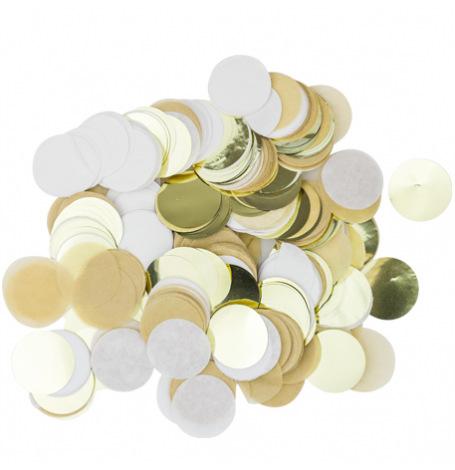 Confettis de table papier Kraft Blanc & Or | Hollyparty