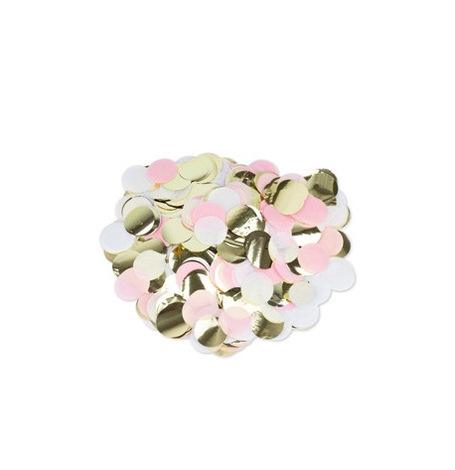 Confettis de table Rose, Blanc, Or, 3 cm - 36g| Hollyparty