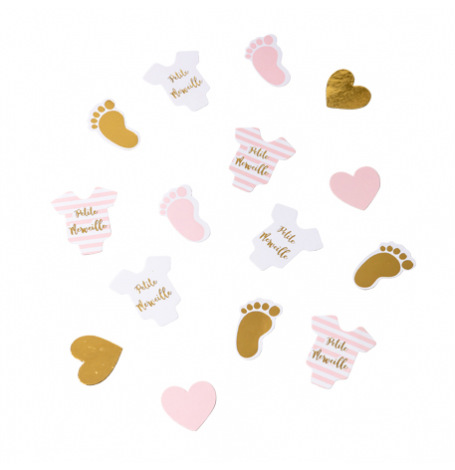 Confettis de table Rose & Or Petit Merveille (x100)| Hollyparty