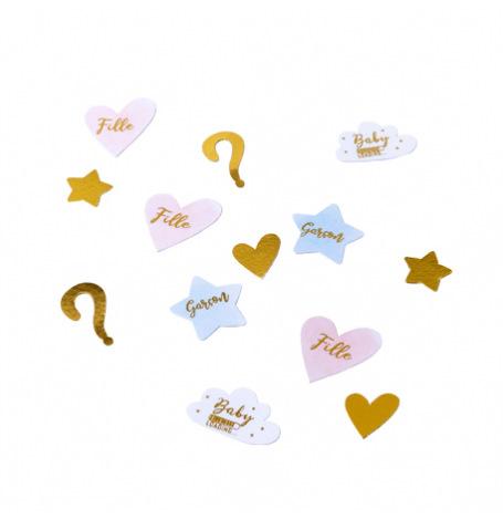 Confettis Gender Reveal Fille ou Garçon (x100)| Hollyparty
