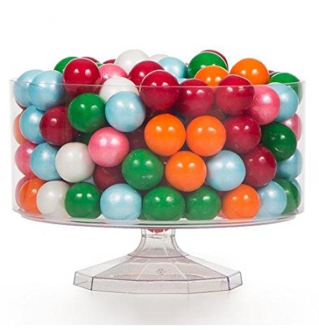 Contenant à bonbon plastique sur pied| Hollyparty