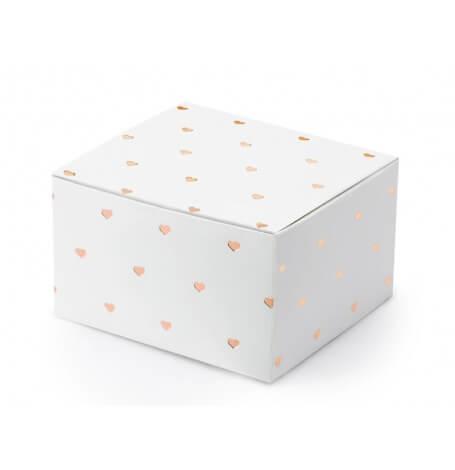 Contenants à Dragées Coeur Rose Gold (x10)| Hollyparty