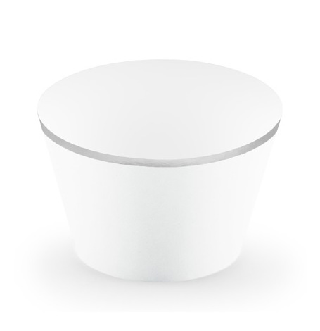 Déco à cupcake Blanc & Argent (x6)| Hollyparty
