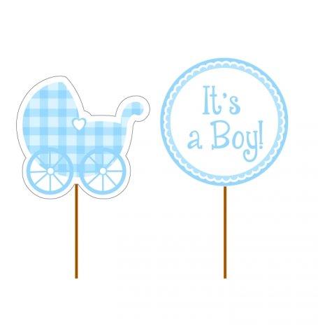 Déco gâteau Bleu It's a Boy (x12)| Hollyparty