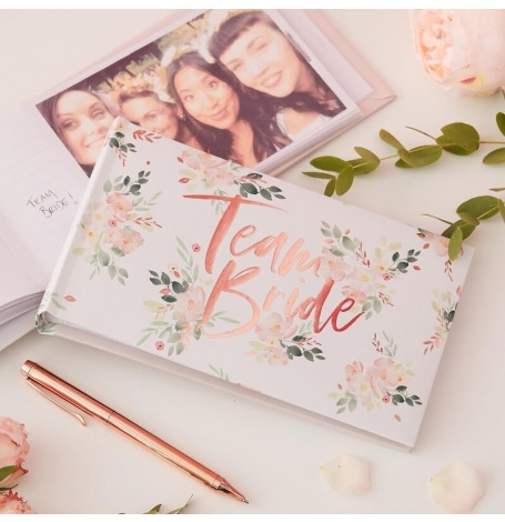 EVJF Livre d'Or Team Bride Rose Gold| Hollyparty