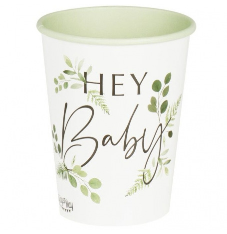 Gobelets Botanique Hey Baby Shower (x8)| Hollyparty