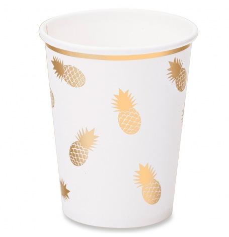 Gobelets en carton Ananas Or (x4)| Hollyparty