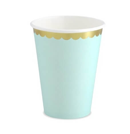 Gobelets en carton Mint & Or (x6)| Hollyparty