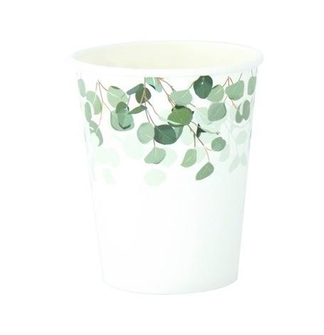 Gobelets en carton Végétal Eucalyptus Vert & Or (x4)| Hollyparty