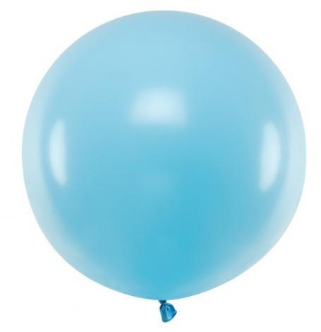 Grand Ballon en latex Bleu Pastel 60 cm| Hollyparty