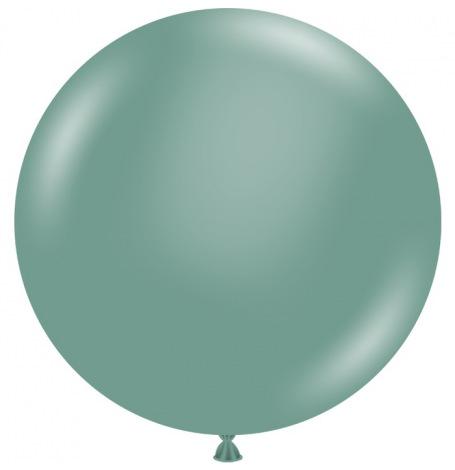 Grand Ballon en latex Vert Eucalyptus | Hollyparty