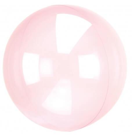 Grand Ballon en Plastique Transparent Rose 45 cm| Hollyparty