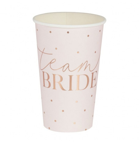 Grands Gobelets Team Bride Rose Gold (x8)| Hollyparty