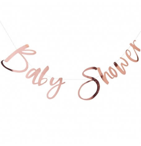 Guirlande Baby Shower Rose Gold| Hollyparty