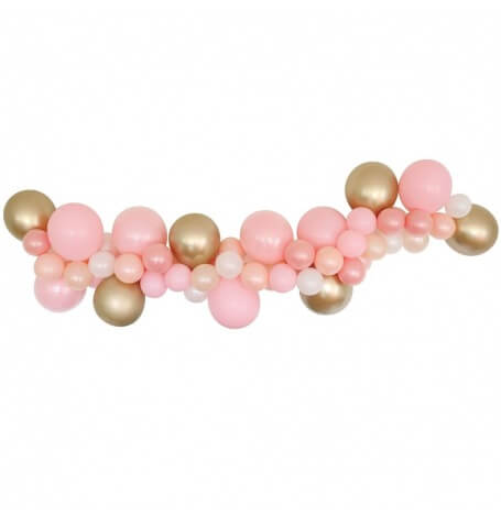 Guirlande de 48 Ballons Rose & Or | Hollyparty