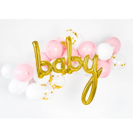 Guirlande de ballons Baby Rose & Or (x24)| Hollyparty