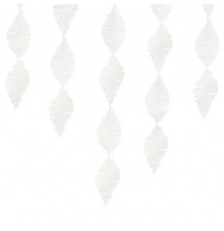 Guirlande à Frange Papier Blanc | Hollyparty