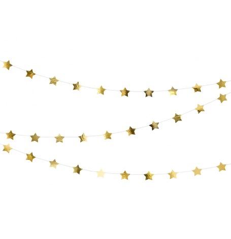 Guirlande Métallisée - Etoile Or | Hollyparty