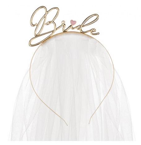 Headband Bride Or | Hollyparty