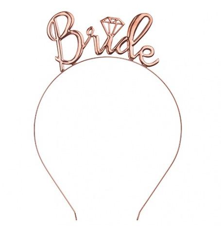 Headband Bride Rose Gold | Hollyparty