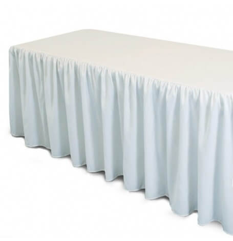 Jupe de table en plastique Blanc| Hollyparty