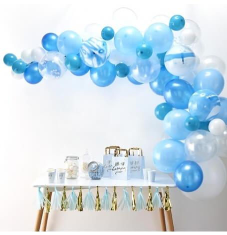 Kit Arche de 60 Ballons Baudruche Biodégradable Bleu| Hollyparty