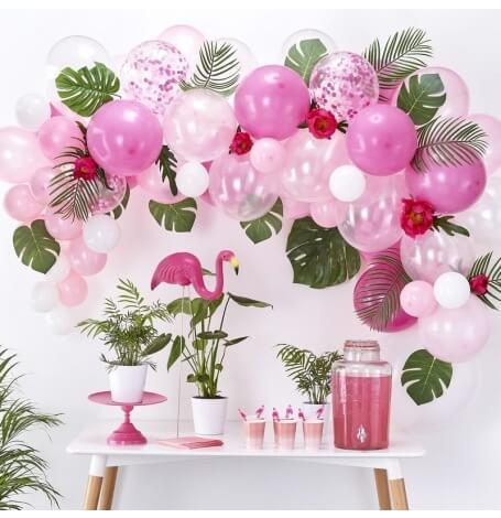 Kit pour Arche de 60 Ballons Baudruche Rose & Blanc | Hollyparty