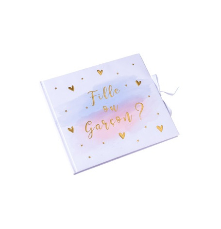 Livre d'Or Gender Reveal Fille ou Garçon 64 pages| Hollyparty
