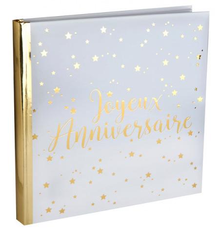Livre d'Or Joyeux Anniversaire Or | Hollyparty