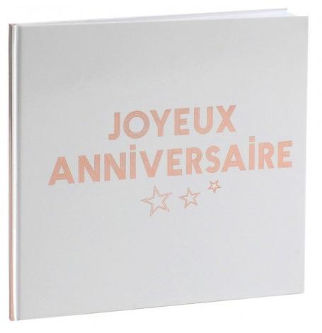 Livre d'Or Joyeux Anniversaire Rose Gold| Hollyparty