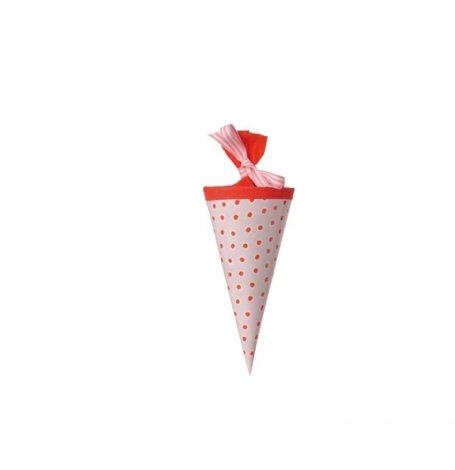 Mini Cône Pochettes Cadeaux Rose à Pois  Hollyparty