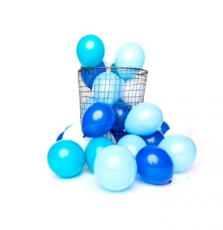 Mix 12 Mini Ballons de Baudruche Bleu | Hollyparty