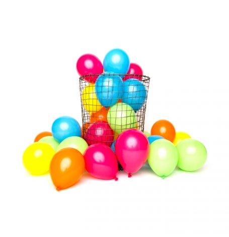 Mix 12 Mini Ballons de baudruche Multicolore| Hollyparty